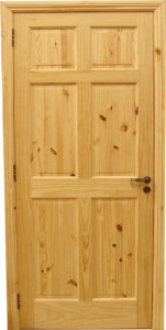 door-knotty pine 6 pan