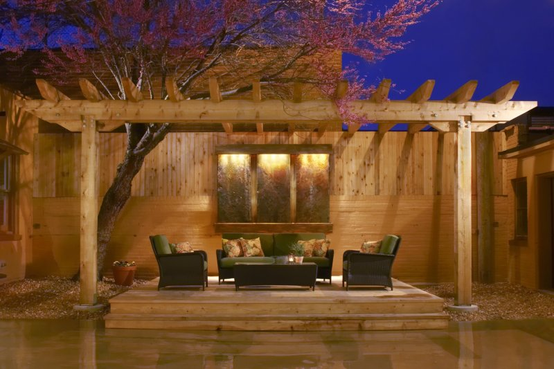 Cedar outdoor living